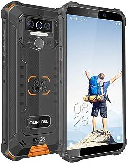 OUKITEL WP5 (2020) アウトドア スマートフォン SIMフリー スマホ本体 Android 10 IP68 防水 防塵 耐衝撃 SIMフリースマートフォン本体 4GB RAM + 32GB ROM 8000mAh 5.5インチ 指紋認識 顔認証 携帯電話 デュアルSIM(Nano) 13MP SONY リアデュアルカメラ LEDライト 防災用品 1年間保証付き (オレンジ)