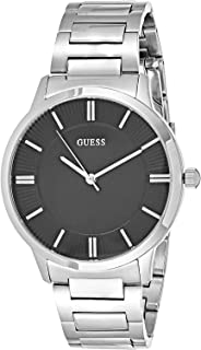 Guess Escrow Watch for Men - Analog, Stainless Steel Band - W0990G1