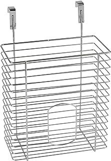Wenko 2340100 Rangement Suspendu pour Sacs, Métal chromé, 30 x 20 x 12 cm