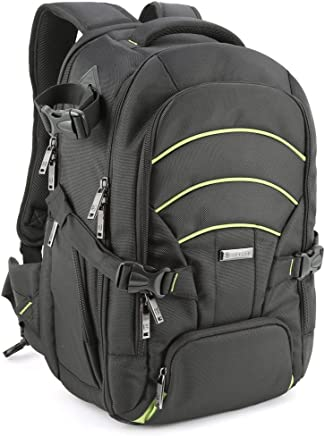 Evecase Large DSLR Camera/Laptop Travel Backpack Bag...