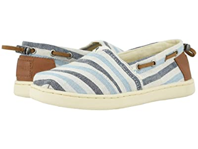 TOMS Kids Bimini (Little Kid/Big Kid) (Navy Woven Stripe/Synthetic Trim) Boy