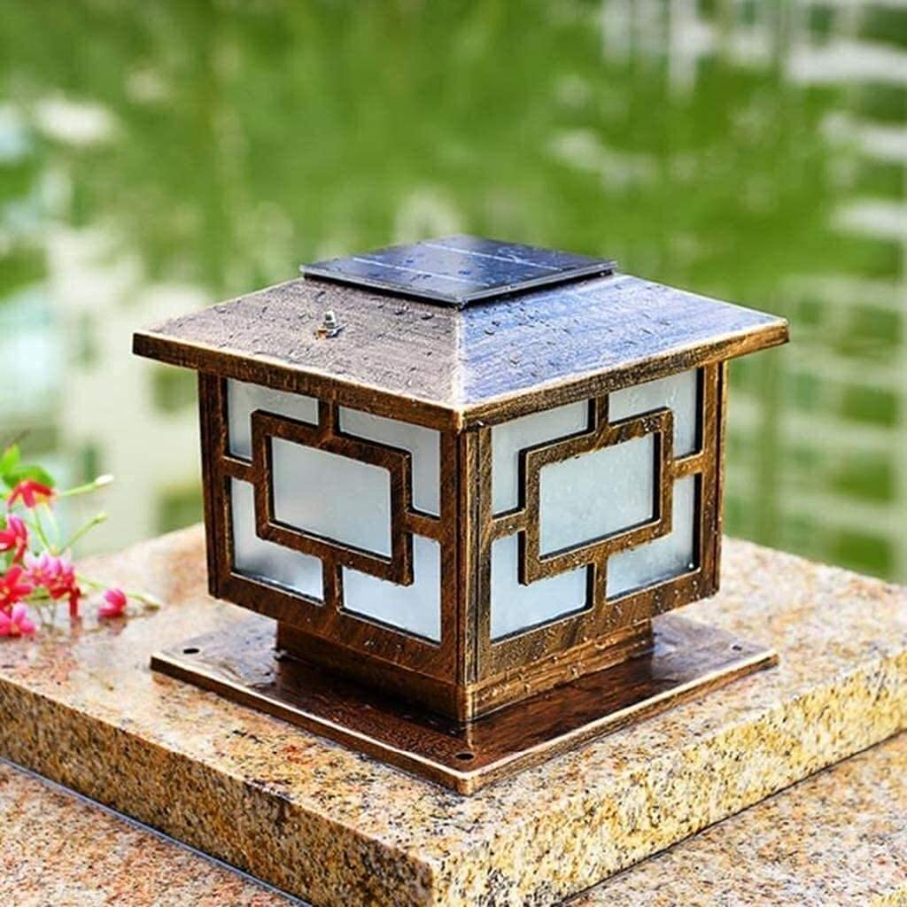 MingrXieh Square LED Solar Garden Outdoor Hea free Max 83% OFF Lights Post Column