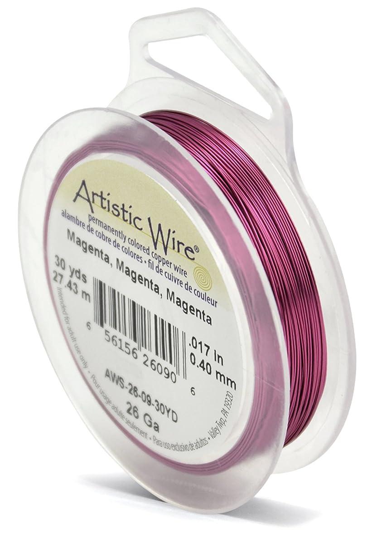 Beadalon Artistic Wire 26-Gauge Magenta Wire, 30-Yards