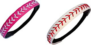 Ankha Softball Headbands for Women Girls - Leather Headband for Youth (2 Pc)