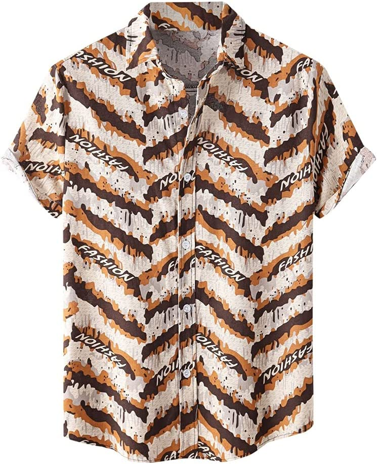 SPNEC Men Luxury Leopard Print Shirt Printed service Summer Car Trend