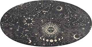 VinMea Round Area Rug Cosmic Magic Textures Witchy Non-Slip Coral Fleece Floor Mat Carpet for Bedroom Bathroom Living Roo...
