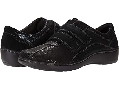 Clarks Cora Azalia (Black Synthetic/Leather Combination) Women