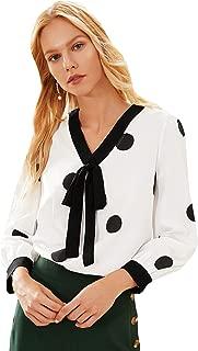 Best v neck bow blouse Reviews