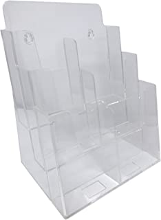 Dazzling Displays Clear Acrylic 3-Tier Brochure Holder for 8.5