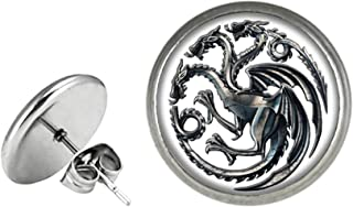 Game of Thrones Fashion Novelty Post Earrings Movie TV Series with Gift Box