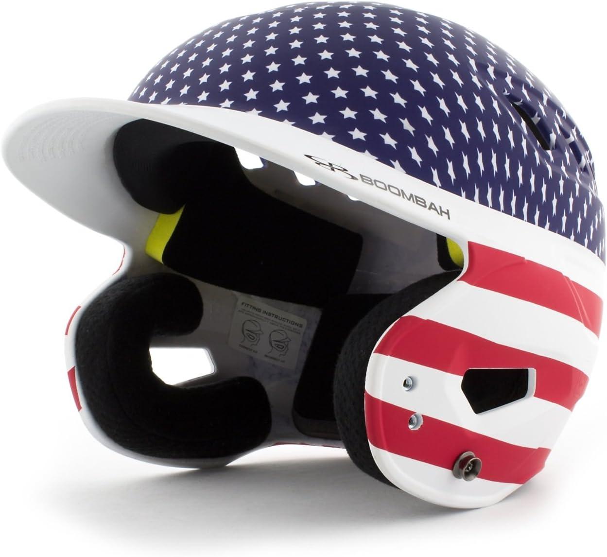 Boombah DEFCON Softball Baseball Helmet Stars and 2 Oklahoma City Mall Stripes Si - Limited price