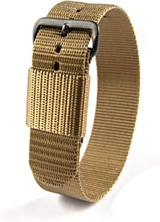 Watch Ballistic Nylon Watch Band, Military Grade with Stainless Steel, Non-Magnetic Buckle