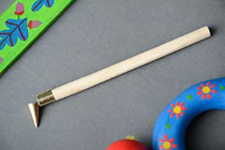 Handmade hot wax painting tool with wooden handle for decoration of Easter eggs art supply