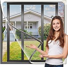 Klaar Om Verstelbaar Diy Insect Mesh Mosquito Screen Fly Window Great Looks Easy To Installation Maat 125cm × 100cm Geschi...
