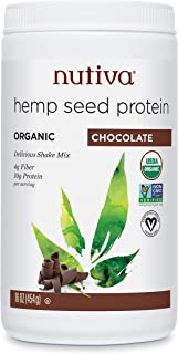 Nutiva Organic, Cold-Processed Hemp Protein, Chocolate, 16-ounce