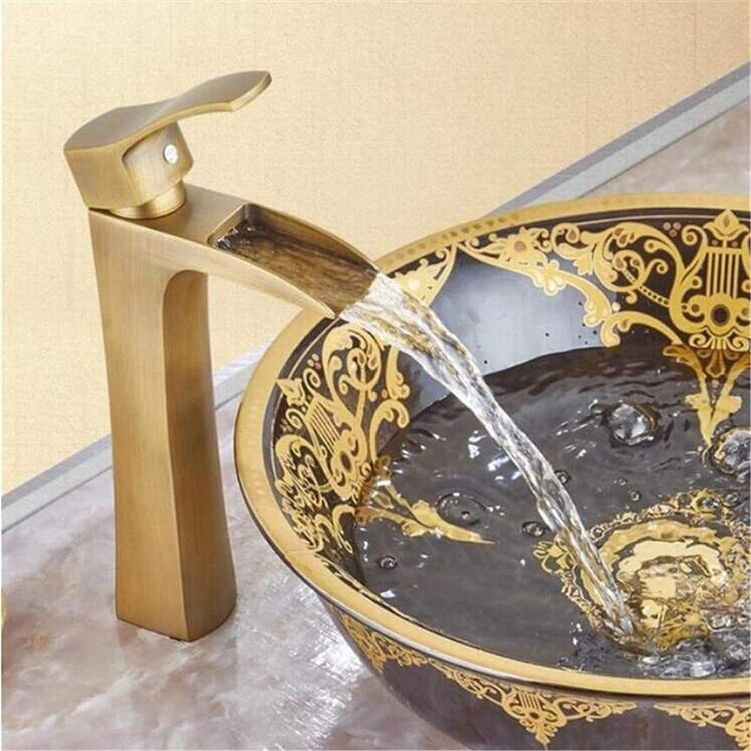 Faucet Luxury Modern Plated Faucet Mixerbathroom Faucet Single Handle Basin Mixer Tap Bath Antique Faucet Brass Sink Water Crane