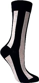 Vertical Striped Women's Crew Trouser Socks