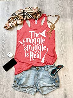 The Muggle Struggle Is Real/True To Women's Fit/Women's Eco Tri-Blend Tanks//Universal Trip Shirt/Harry Potter Clothing/Triblend Tank/Free Shipping//