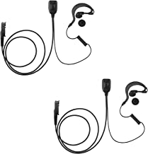 2 Pack Maxtop AEH1003-AX G-Sharp Earhanger Earphone for Motorola XiR P6628 XIR E8600 E8608 XPR 3300 XPR 3500