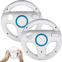 2Pack Mario Kart Steering Wheels Compatible for Nintendo Wii Remote, TechKen Mario Kart..