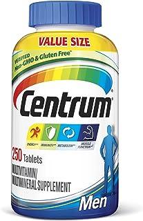 Centrum Multivitamin for Men, Multivitamin/Multimineral Supplement with Vitamin D3, B Vitamins and Antioxidants, Gluten Fr...