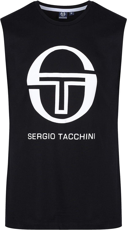 Sergio Tacchini Follow Tank Black Max 72% OFF White Attention brand Top