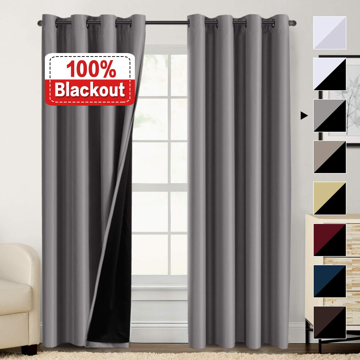 Blackout Curtains Bedroom Thermal Insulated