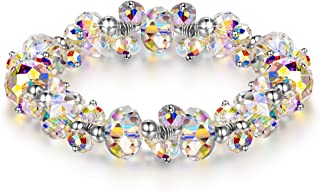Christmas Bracelets Gifts for Women When in Rome Gifts for Her 7 inch Crystals Stretch Bracelet Made with Swarovski Crystals Encounter Your Romance Hypoallergenic Jewelry Gift Box Packing