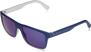 9be3d4f84 Óculos Lacoste L876S 424 Azul Fosco Branco Lente Azul Flash Tam 57