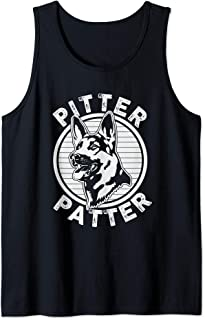 Funny Pitter Patter - Dog German Shepherd Dog Rescue Woof Tank Top
