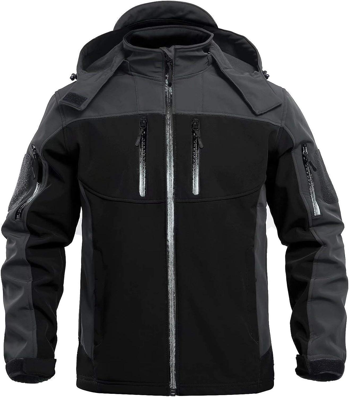 MAGCOMSEN Inventory Very popular cleanup selling sale Men's Windbreaker Jacket Winter 6 Zipper Coats Pockets