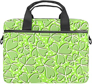 Shamrock Leaves Laptop Tote Bag Notebook Shoulder Bag Lightweight Multi-Pocket Business Work Office Briefcase for iPad Pro/Computer/MacBook