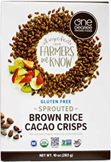 One Degree Organic Foods Veganic Sprouted Brown Rice Cacao Crisps -- 10 oz - 2 pc