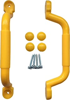 KINSPORY 10.6'' Kids Safety Handle Grips with Dermatoglyph for Outdoor Climbing Frame (Yellow)