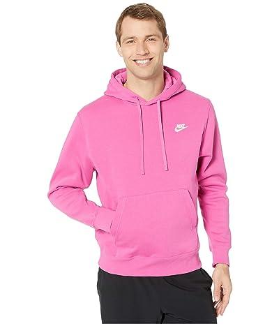 Nike NSW Club Hoodie Pullover (Active Fuchsia/Cosmic Fuchsia/White) Men