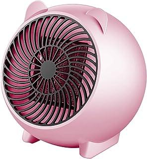 Student Heater Desktop Heater Mini Heater Office and Home Portable Fan Heater Desktop Cartoon Heater Pink