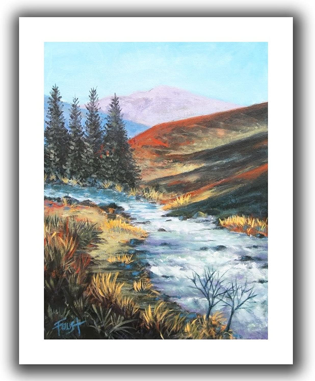 ArtWall Gene Foust 'Rolling Rapids' Unwrapped Canvas Art, 18 by 22-Inch