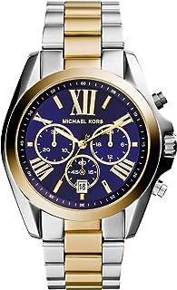 Michael Kors Bradshaw Women's Blue Dial Stainless Steel Chronograph Watch - MK5976