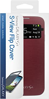 Samsung Galaxy S 4 S-View Flip Cover Folio Case (Red) (Discontinued by Manufacturer)