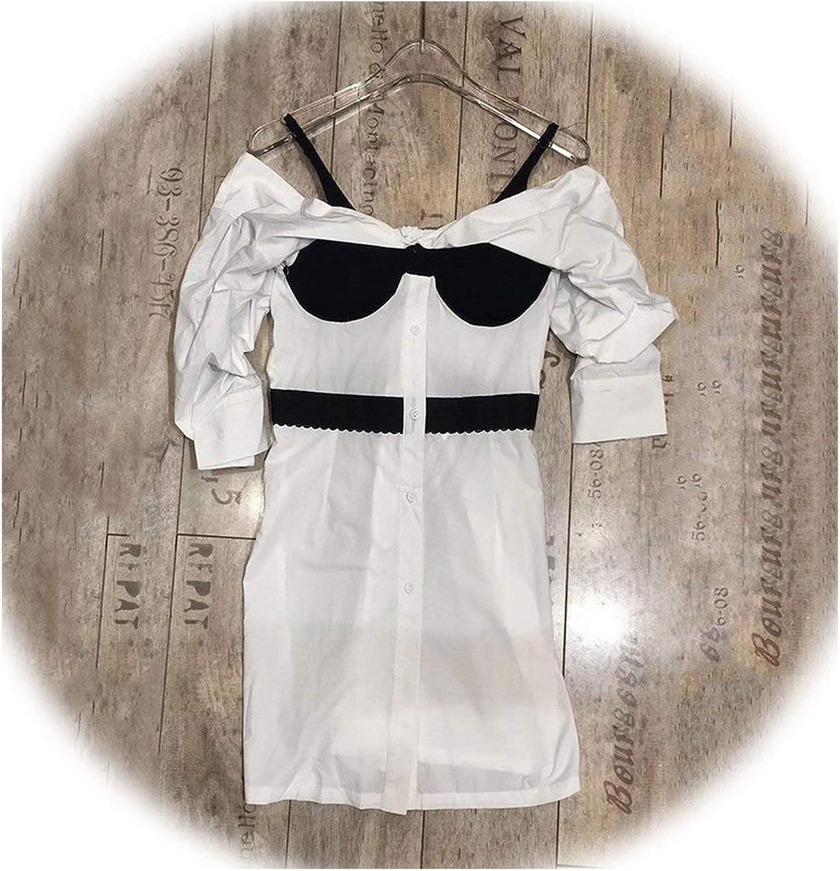 Dreamedge Sexy Shirt Dress Female Slash Neck High Waist Long Sleeve Hit colors Mini Dresses Women 2019 Spring Fashion Clothes