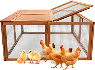 Magshion Spacious Wooden Chicken Coop Bunny Rabbit Hutch Pet Hutch Playpen House