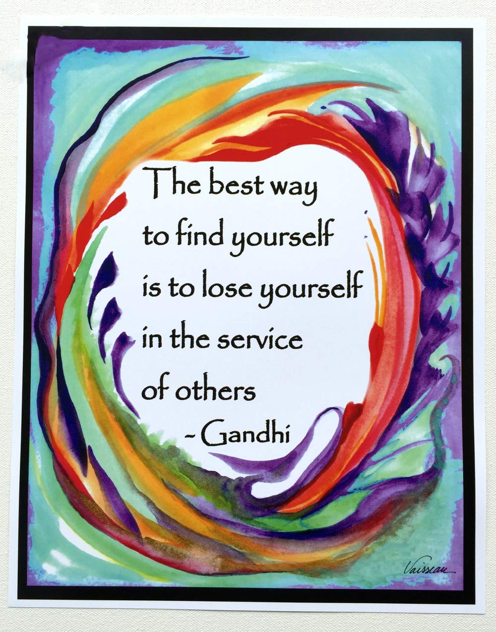 Best way to find yourself Oklahoma Max 80% OFF City Mall 11x14 Heartful - Art poster Gandhi by