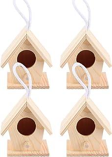 Garden Decor Wooden Bird House Bird Nesting Box, Bird Nests, Moisture‑proof Bird Resting Nests Box for Swallows Birds Parr...