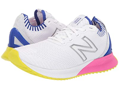 New Balance Fuelcell Echo (White/UV Blue/Peony Engineered Knit) Women