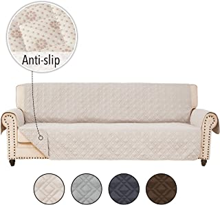 RHF Anti-slip Cover for Extra-Wide Couch, Sofa Cover, Oversize Sofa Slipcover,Extra-Wide Couch Cover for Dogs, Couch Slipcover, Double Diamond,Machine Washable(Sofa-Extra Wide:Beige)