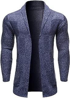 Leomodo Solid Color Pocket Decoration Long-Sleeved Men Cardigan
