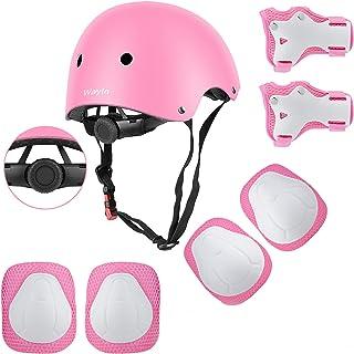 comprar comparacion Wayin Casco Infantil, Protecciones Patines Niña Rodilleras y Cascos Ajustable Coderas para Patinar Bicicleta Monopatín