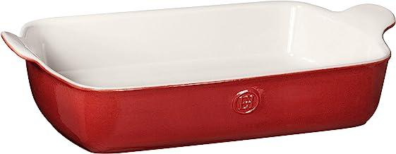 """Emile Henry Made In France HR Modern Classics Large Rectangular Baker, 13 x 9"""", Red"""