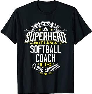 Softball Coach TShirt Gift Idea Superhero Softball Shirt