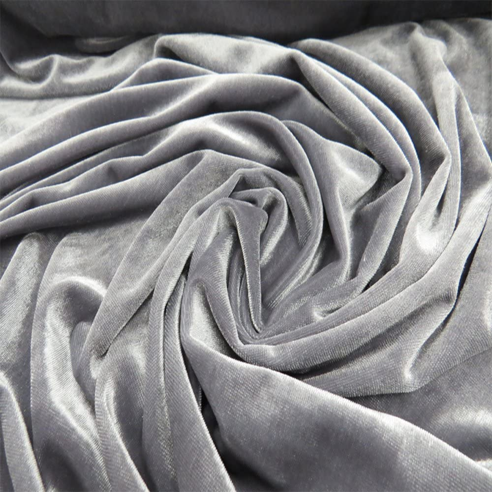 Velvet Fabric 100% Polyester Stretch Over Wide 100 Inches Large-scale sale 58 New color